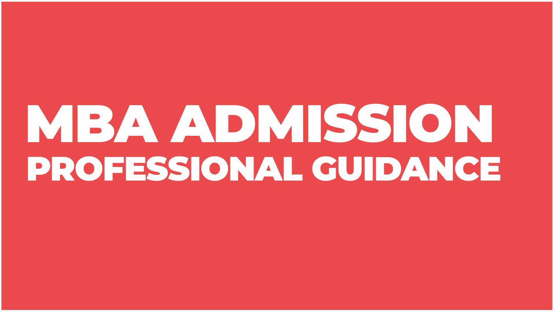 MBA admission India